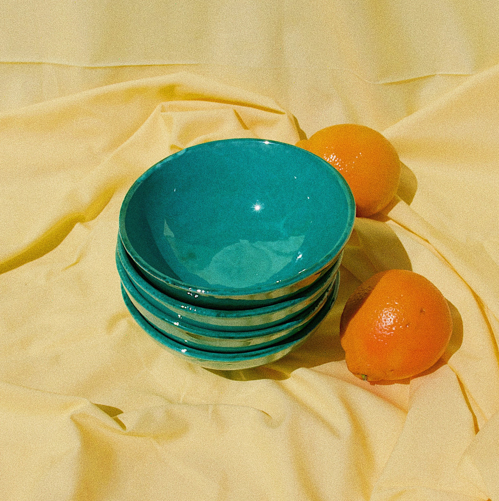 SMALL bowl with green glaze - Pomelo casa