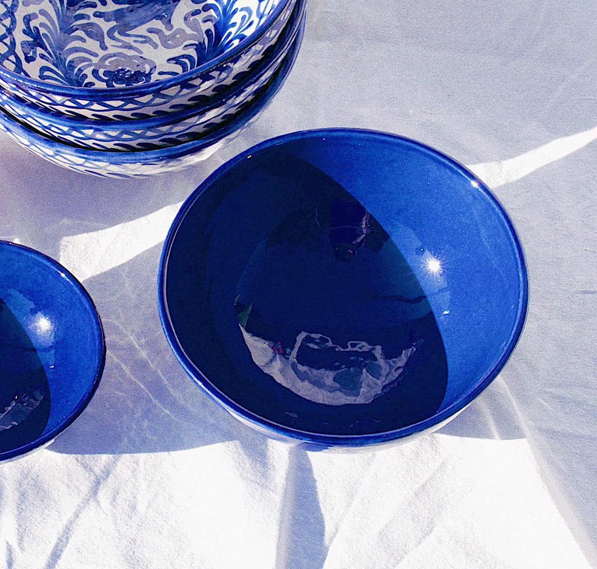 MEDIUM bowl with blue glaze - Pomelo casa