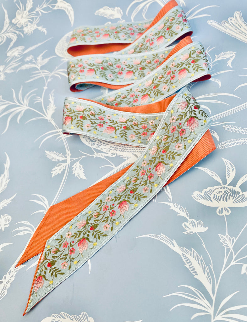 Exclusive: Over The Moon x Sarah Bray Bermuda Antique Garden Ribbon
