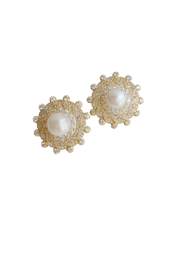 Embellished and Pearl Center Studs