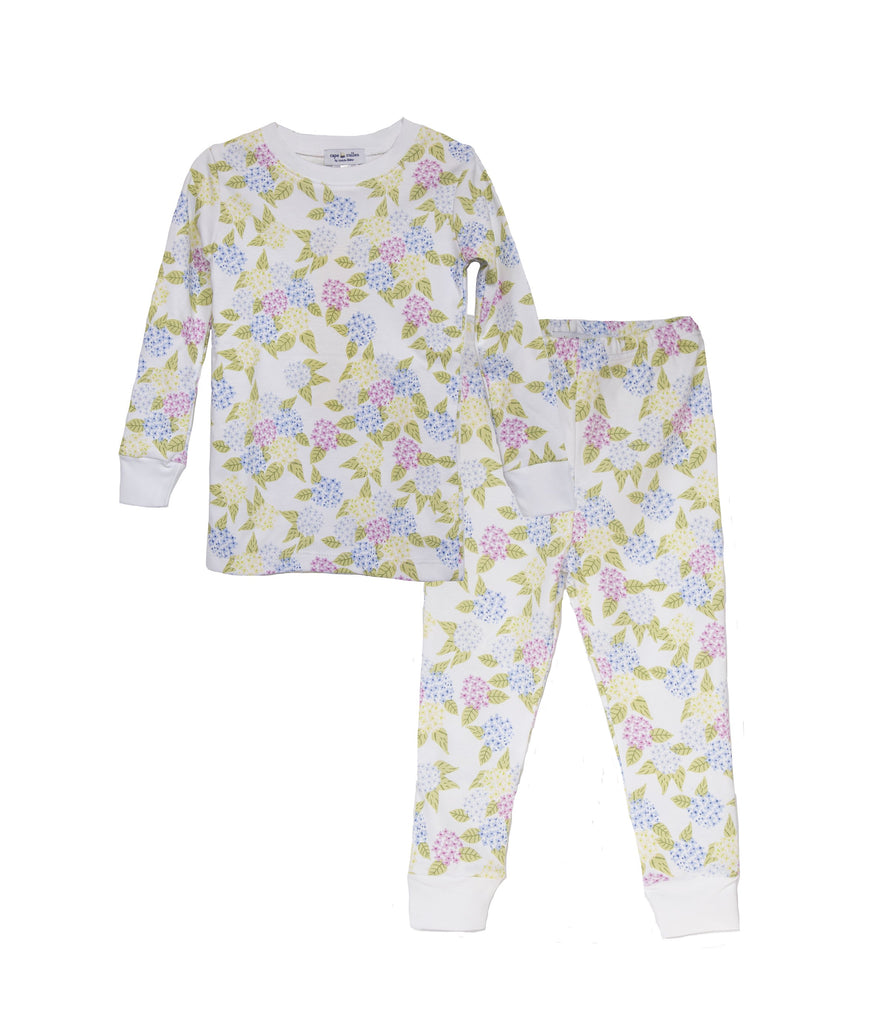 Children's Hydrangea Print Pajama Set