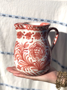 Casa Coral Small Pitcher with Hand-painted Designs