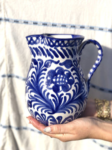 Casa Azul Medium Pitcher with Hand-painted Designs