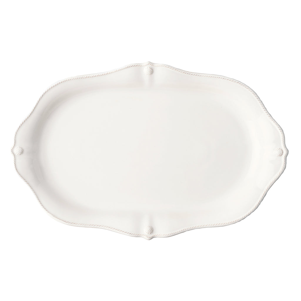 "Berry & Thread Whitewash 20"" Platter"