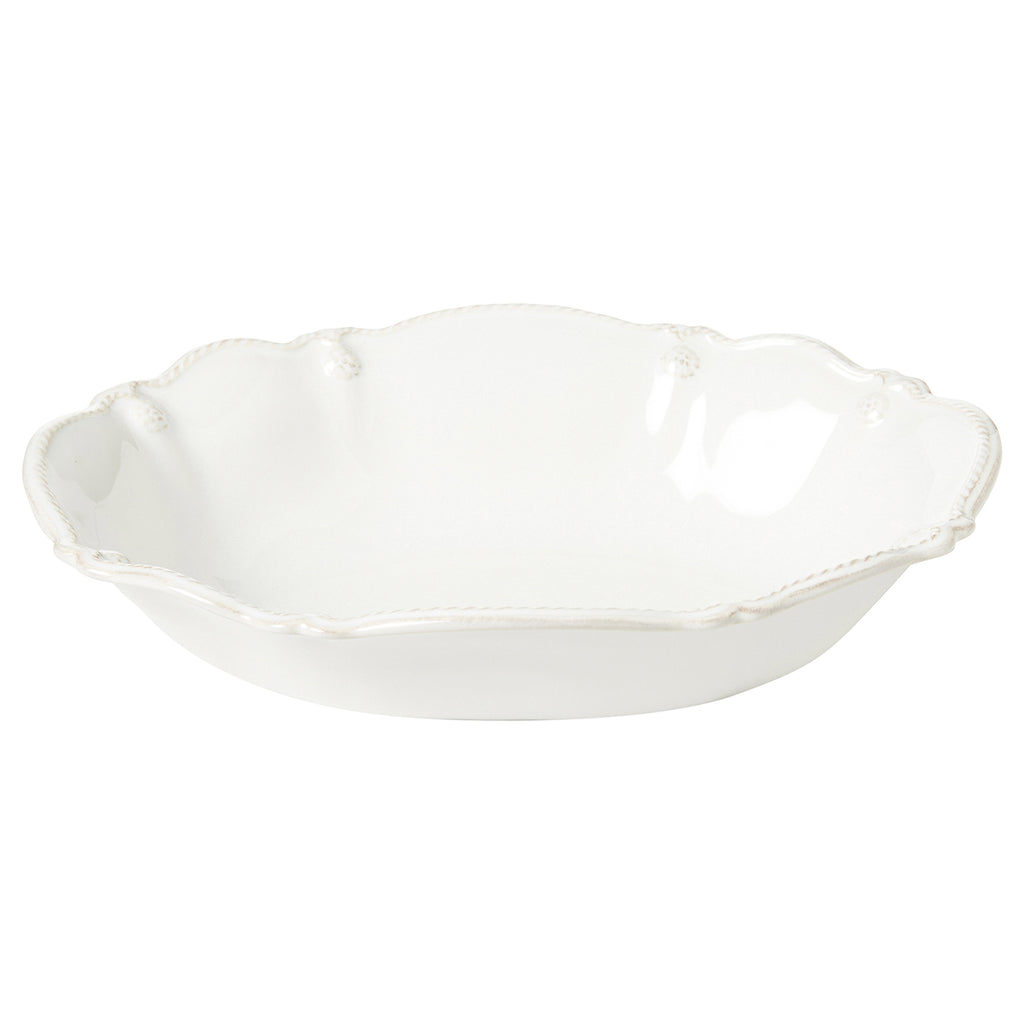 "Berry & Thread Whitewash 10"" Oval Serving Bowl"