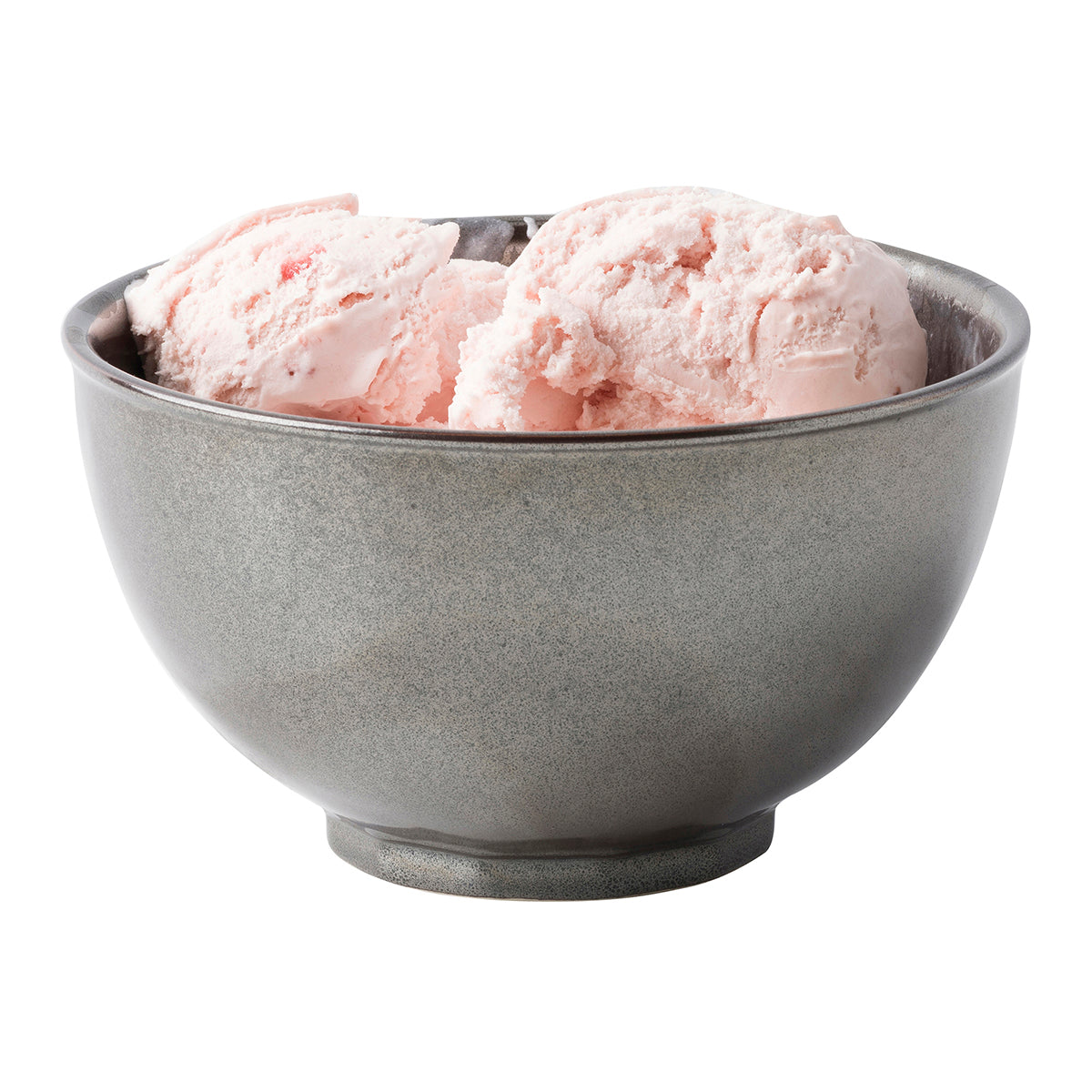 Pewter Stoneware Cereal/Ice Cream Bowl