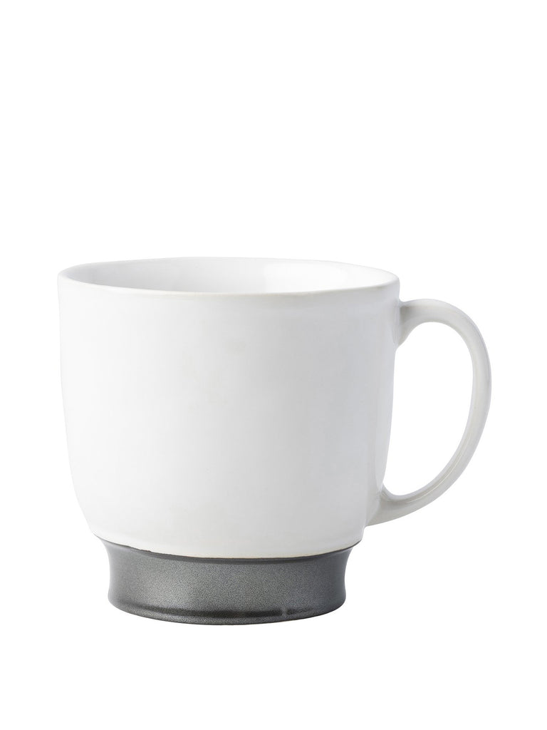 Emerson White/Pewter Coffee Tea Cup