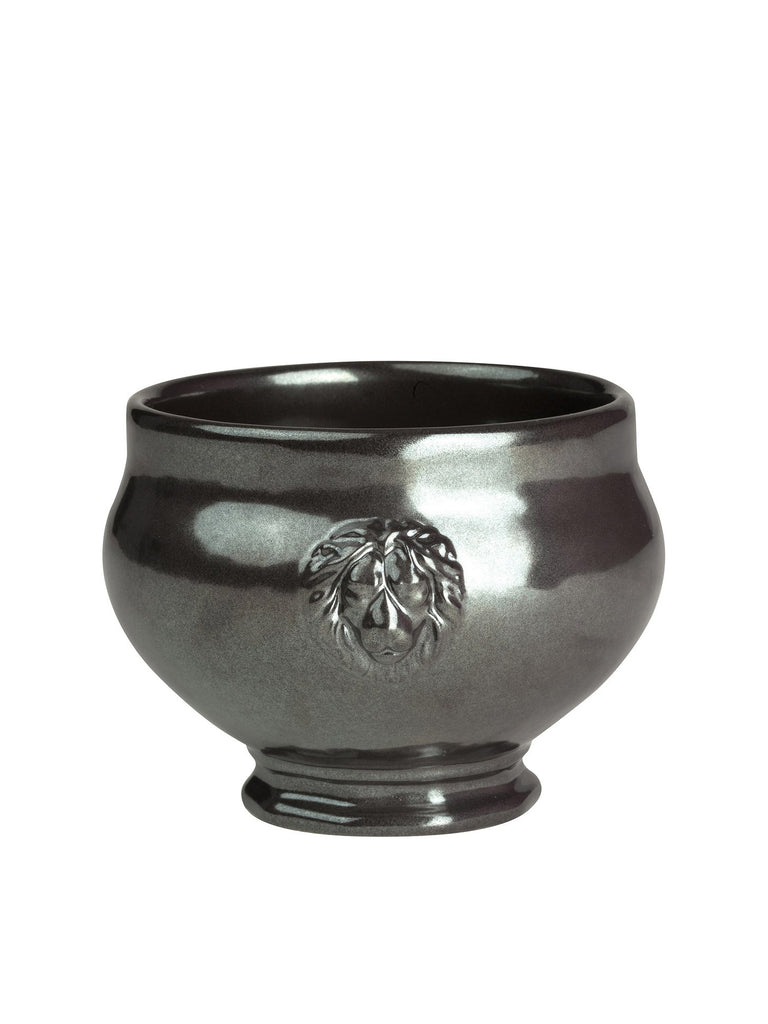 Pewter Stoneware Footed Soup Bowl