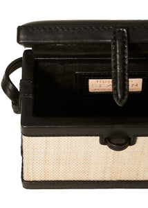 The Mini Square Trunk in Woven Platano