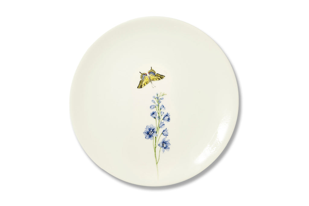 Bloom Delphinium Plate