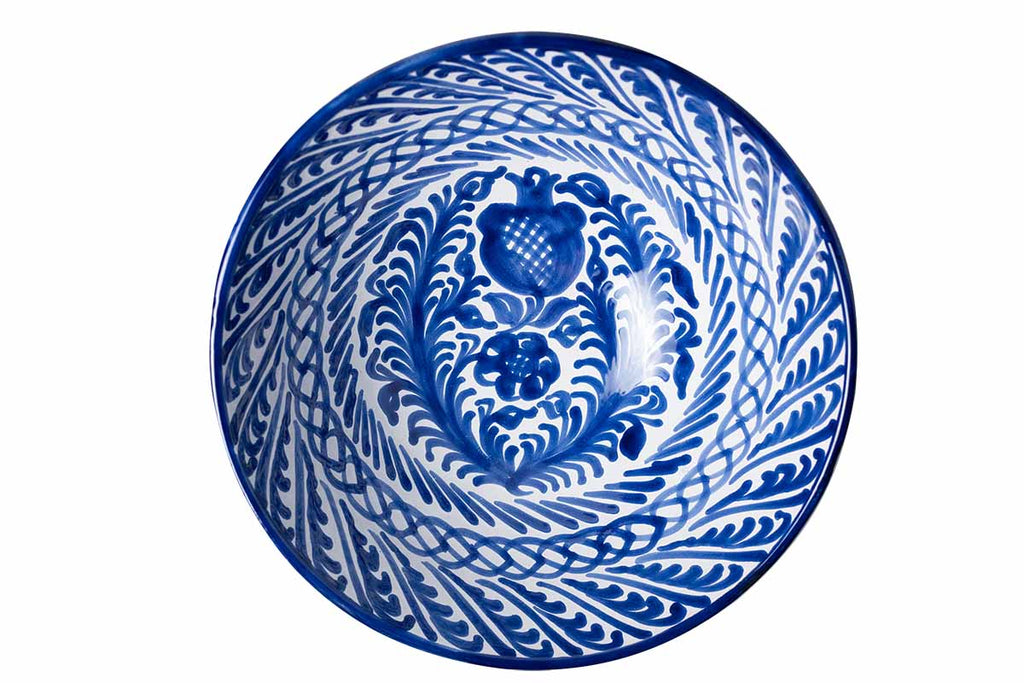 Casa Azul Large Bowl with Hand-painted Designs