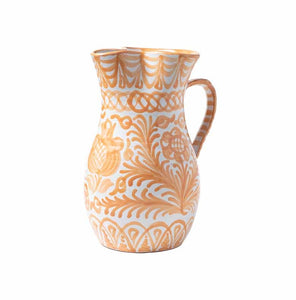 Casa Melocoton Large Pitcher with Hand-painted Designs