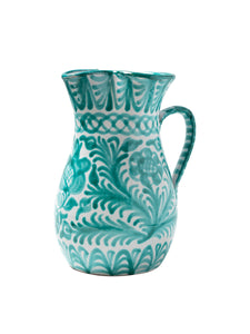 Casa Verde Large Pitcher with Hand-painted Designs