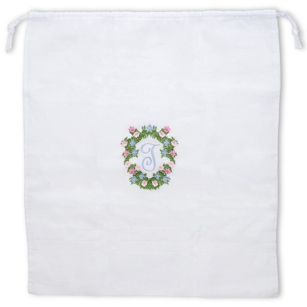 Monogram Linen Laundry Bag
