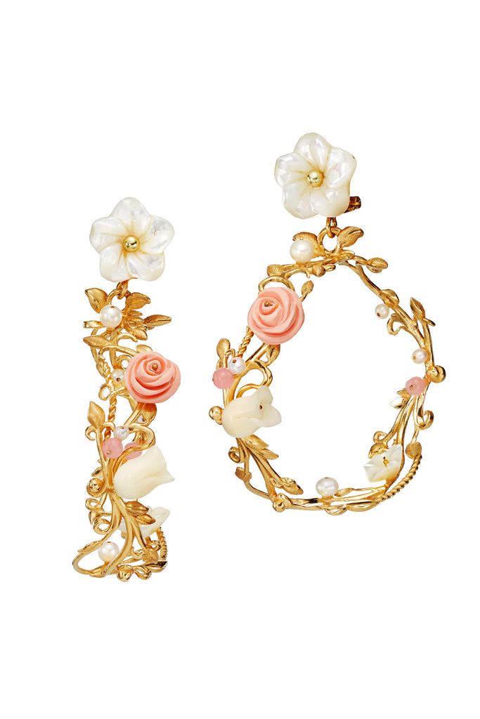 Flower Whirl Earrings