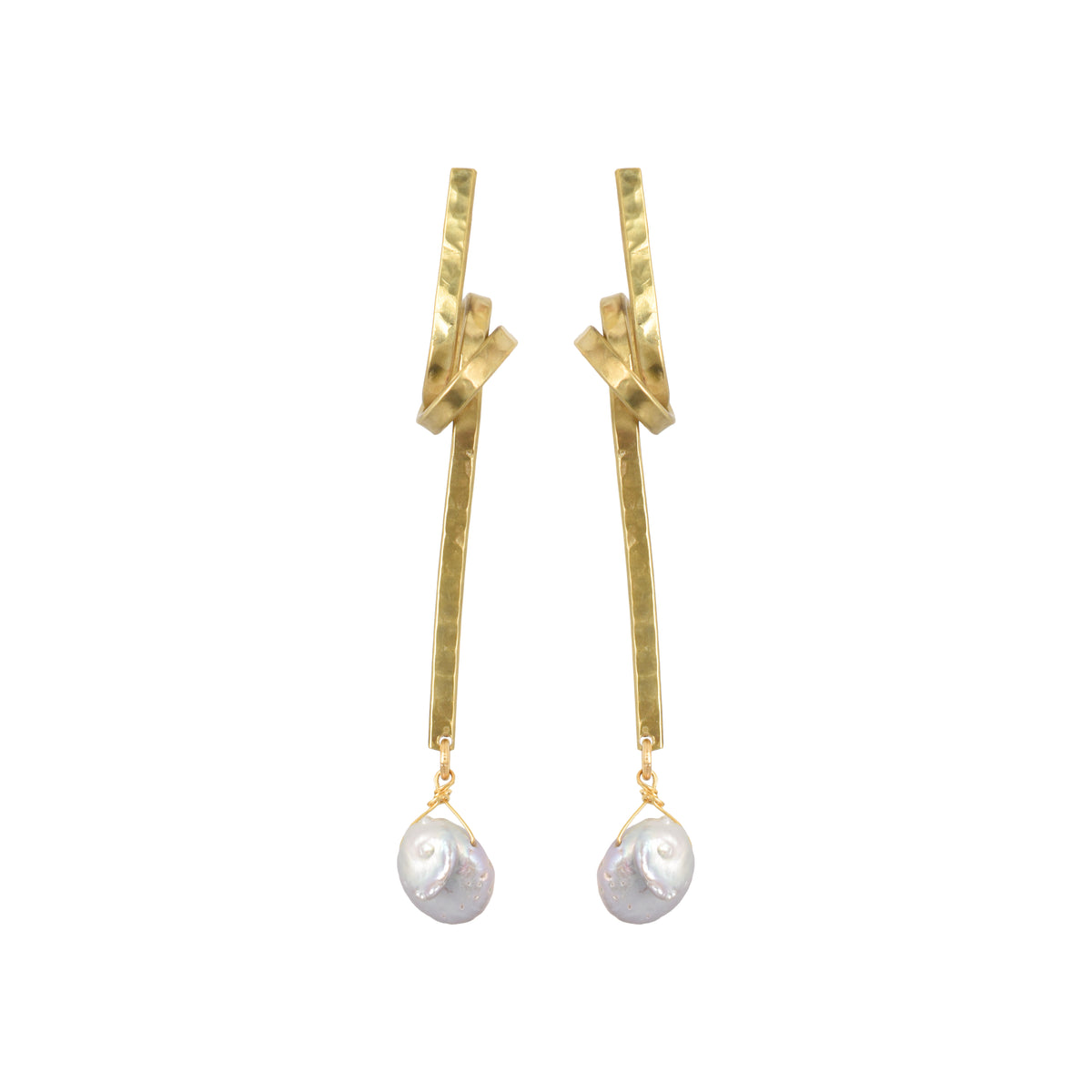 Little Pearl Knot Earrings