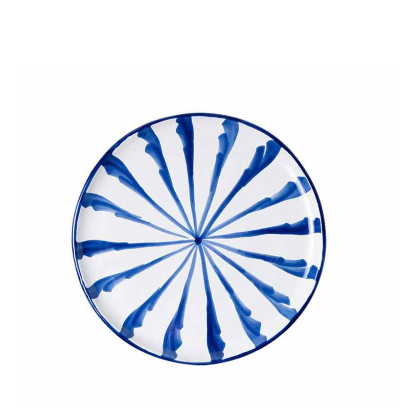 Casa Azul Salad Plate with Candy Cane Stripes