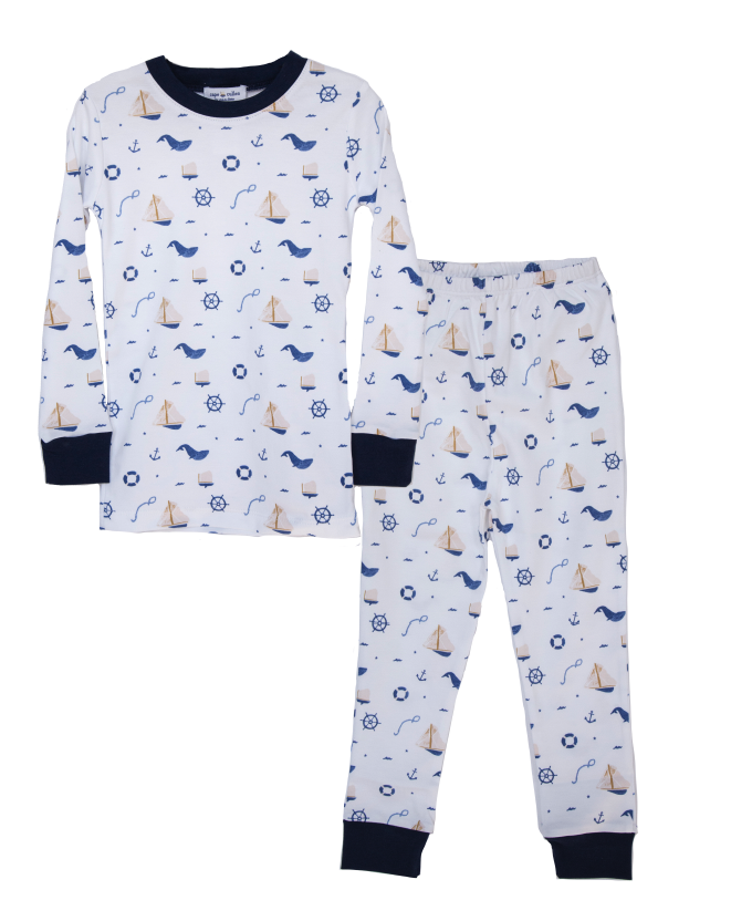 Children's Nautical Two Piece Pajama Set