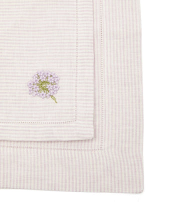 Embroidered Linen Napkins and Placemats, Set of 2