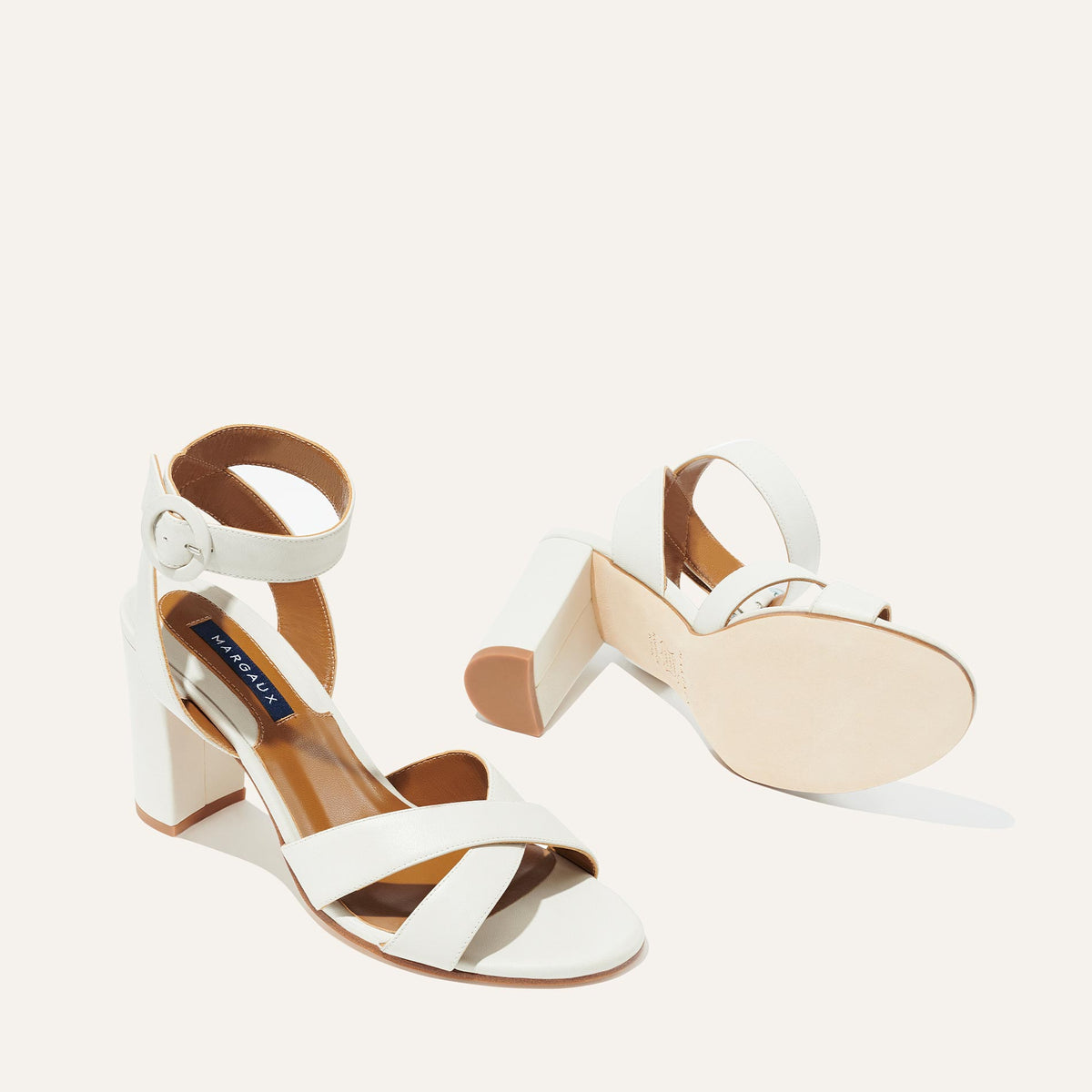 The Uptown Sandal in Ivory