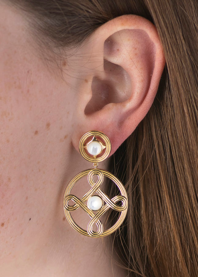 Mother of Pearl Monique Double Earrings