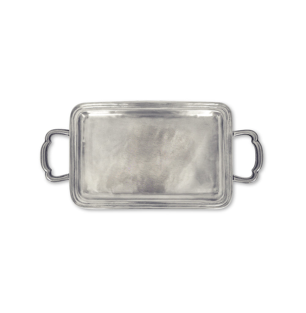 Lago Rectangle Tray with Handles, Small
