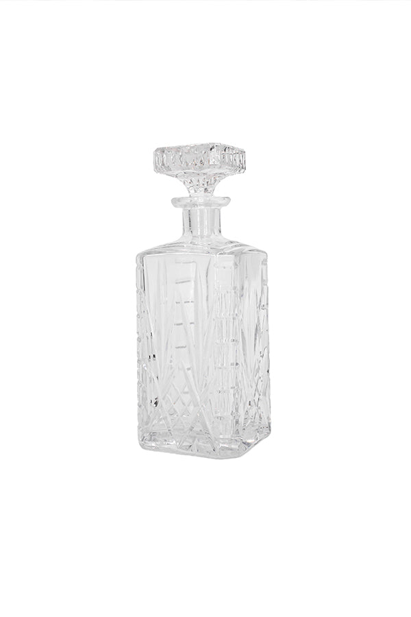 Bevelled Crystal Art Deco Whiskey Carafe