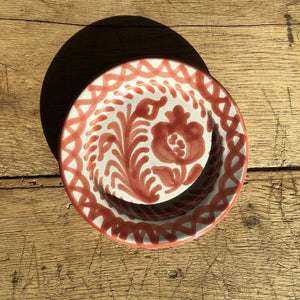Casa Coral Mini Plate with Hand-painted Designs