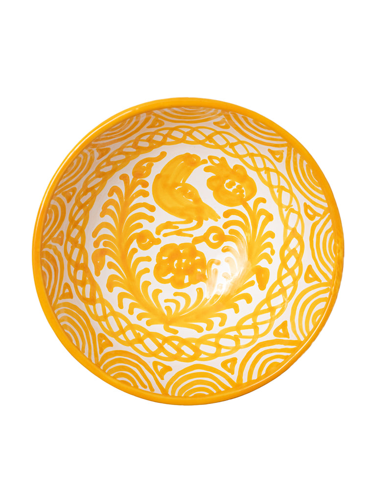 Casa Amarilla Medium Bowl with Hand-painted Designs