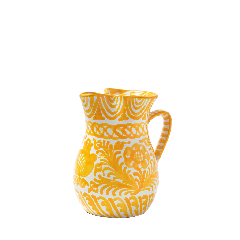 Casa Amarilla Small Pitcher with Hand-painted Designs
