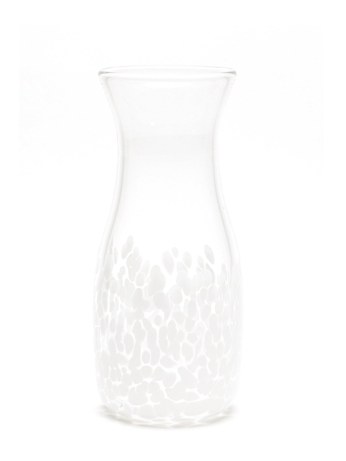 White Transparent Spotted Carafe