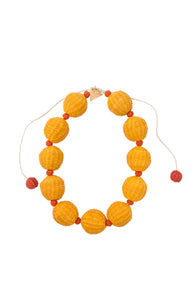 Short Necklace With Iraca Balls