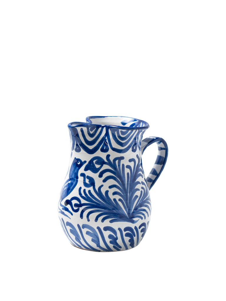 Casa Azul Small Pitcher with Hand-painted Designs