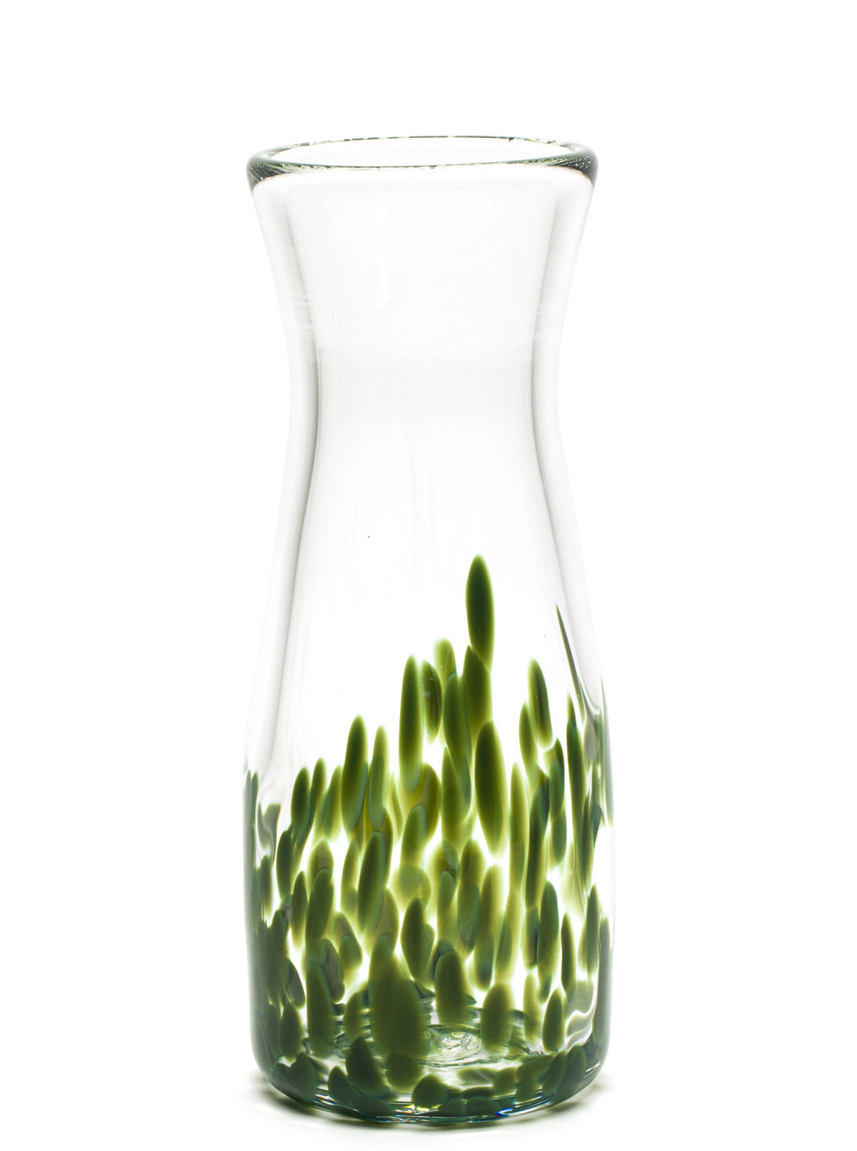Forest Green Transparent Spotted Carafe