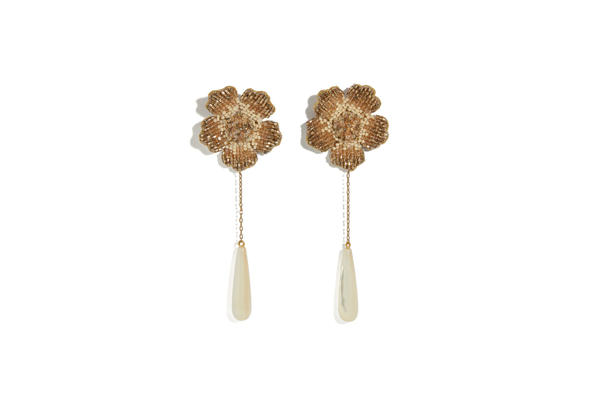 Champagne Floral Earrings