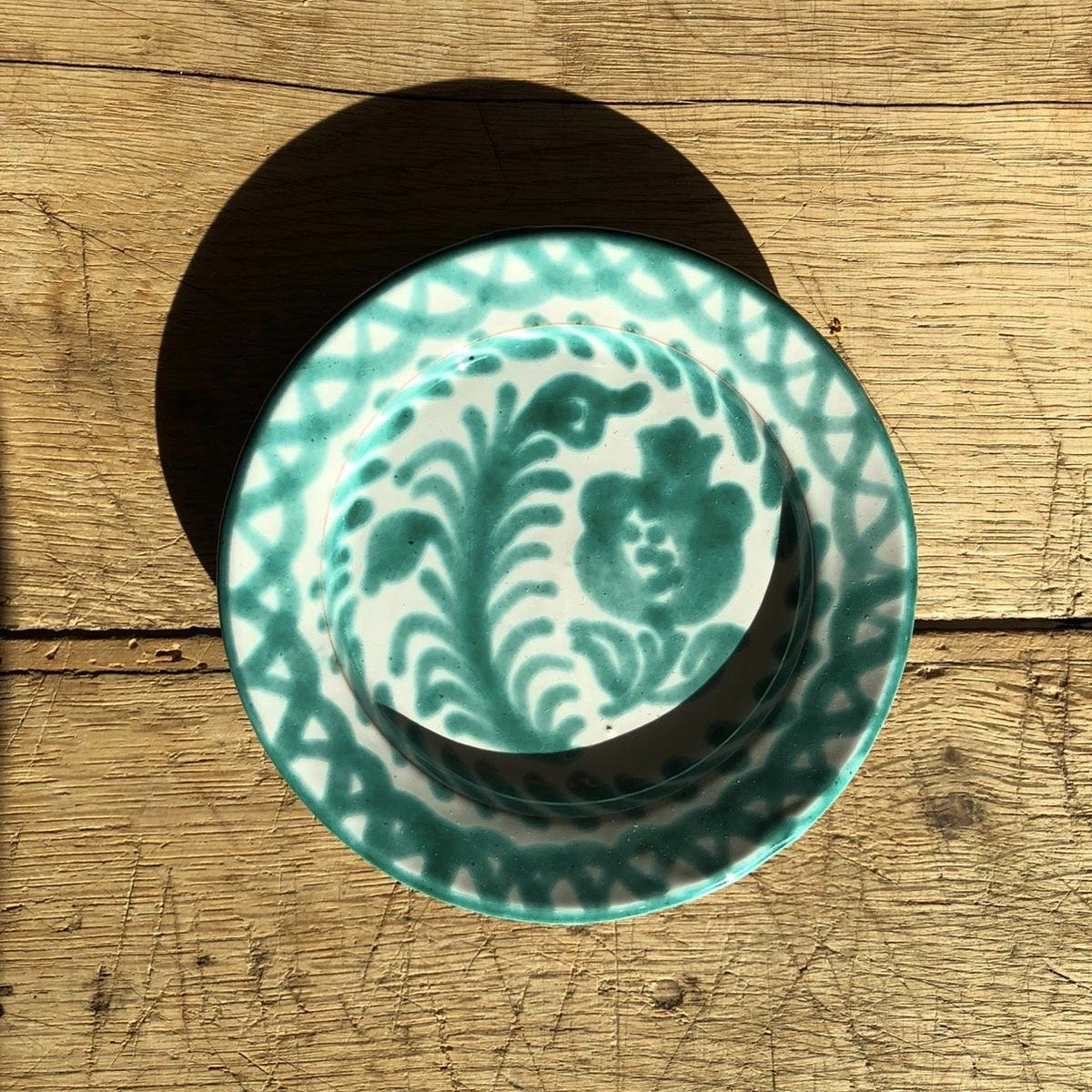 Casa Verde Mini Plate with Hand-painted Designs