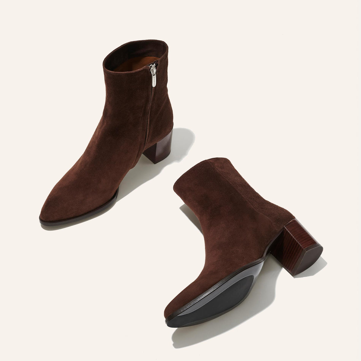 The Downtown Boot in Chocolate Suede