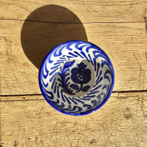 Casa Azul Mini Bowl with Hand-painted Designs