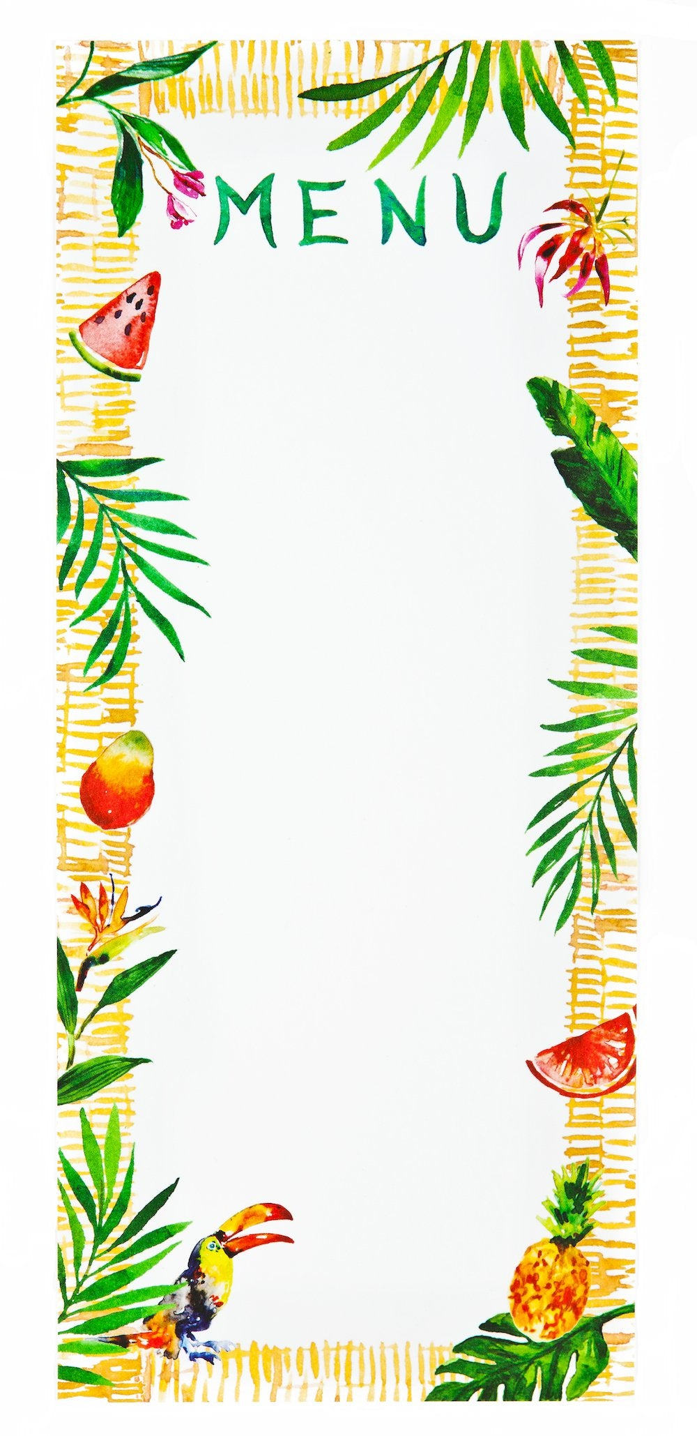 Tropical Menus