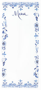 Blue and White Menus