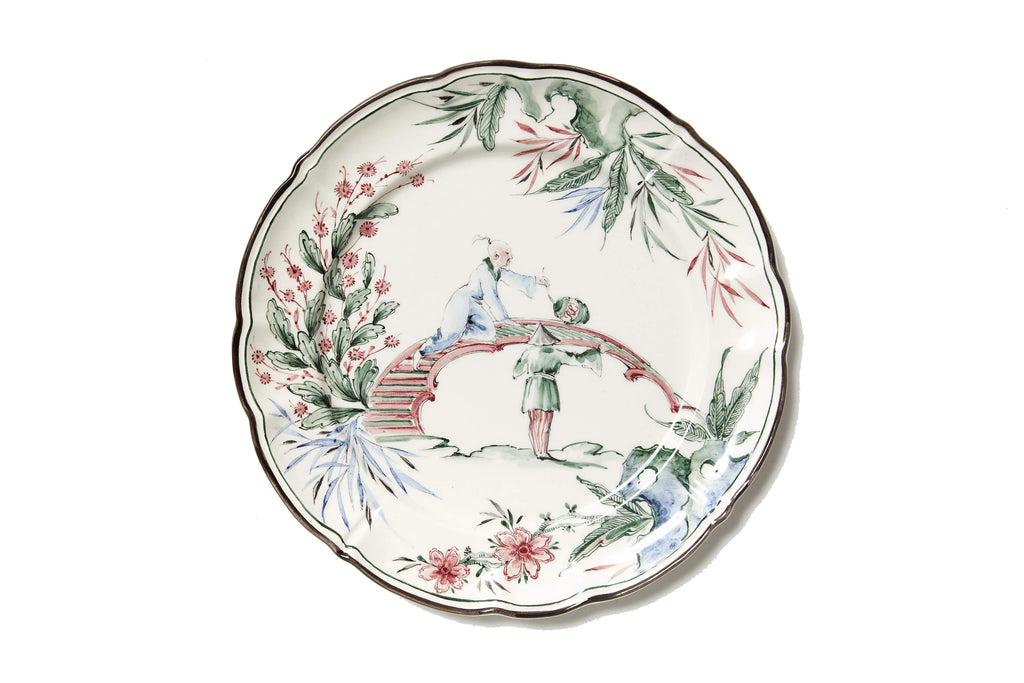 Chinoiserie Soup Plates, Set of 12