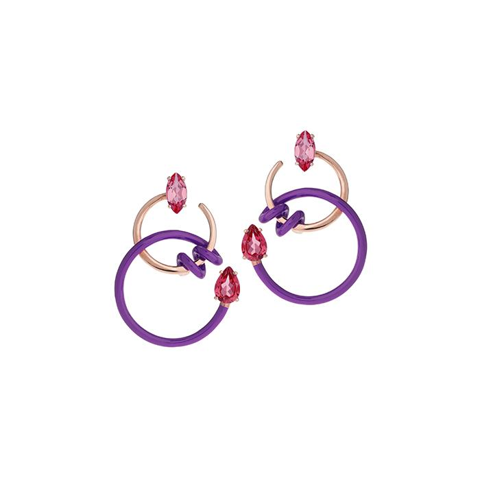 Single Curl Vine Earrings