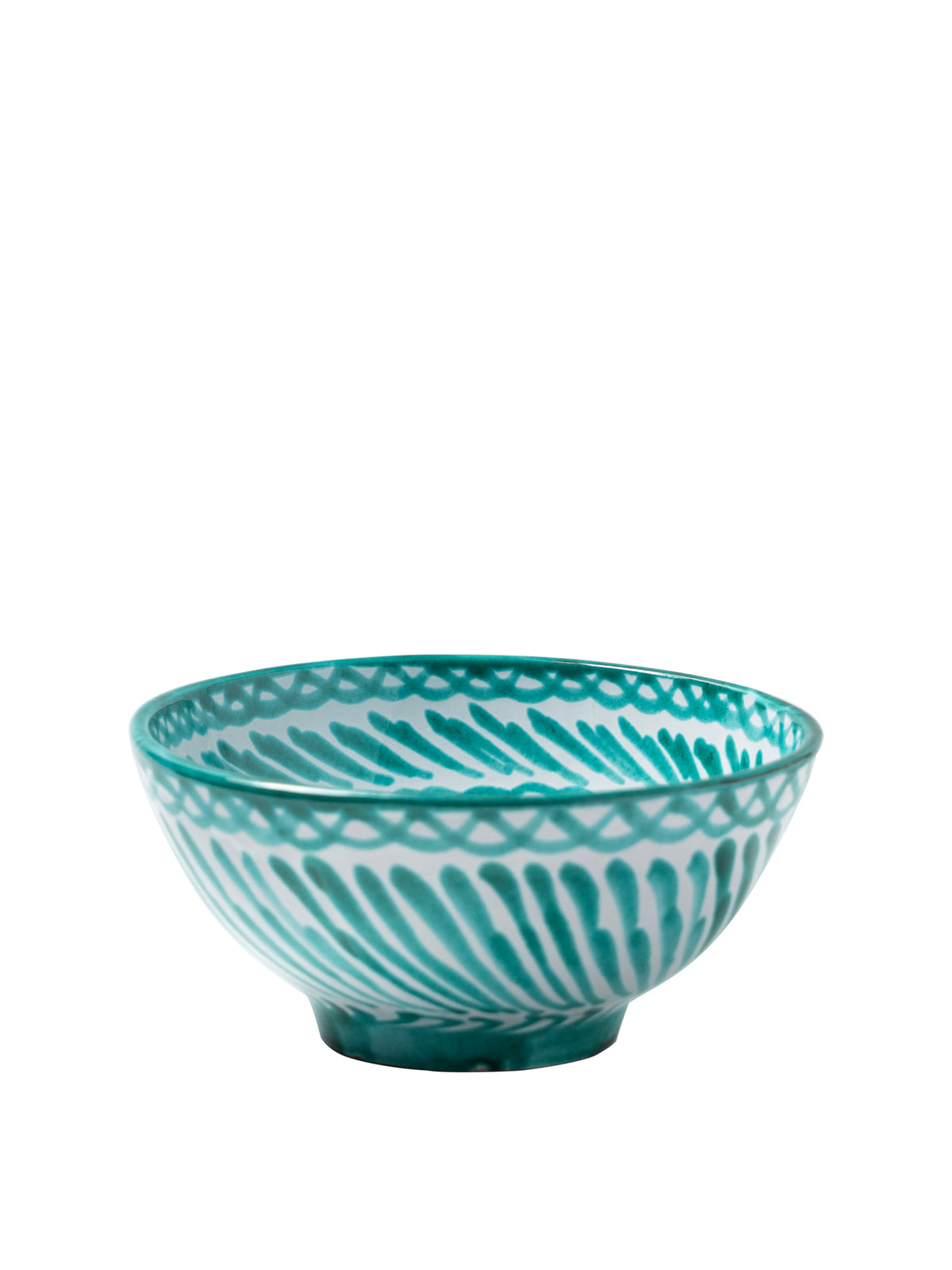 Casa Verde Medium Bowl with Hand-painted Designs