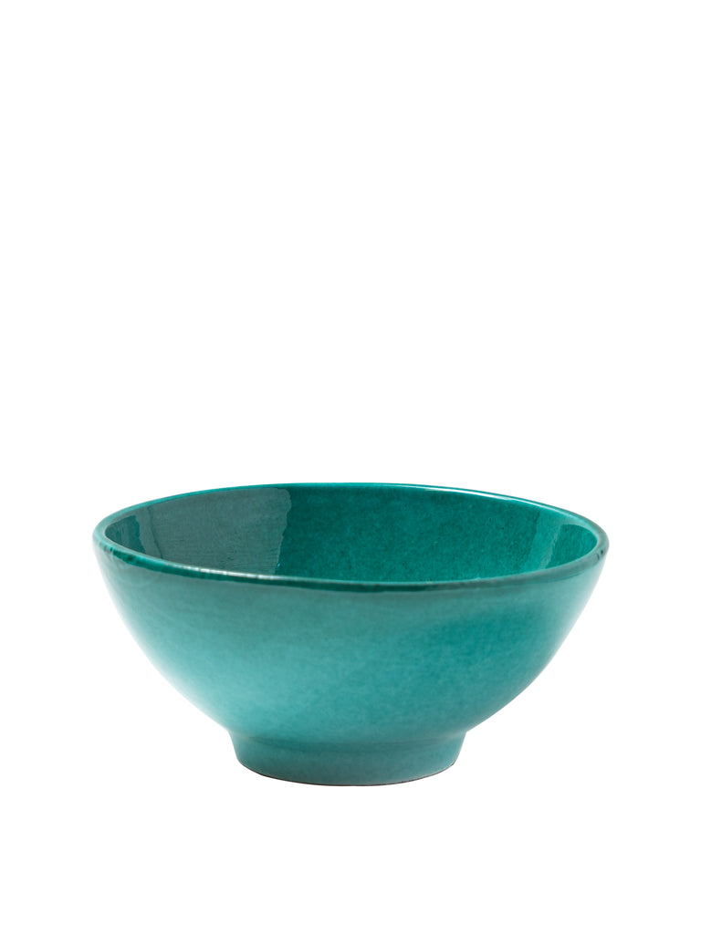 Casa Verde Medium Bowl with Green Glaze
