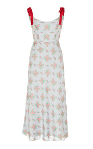 Serafina Blue Floral Corset Dress