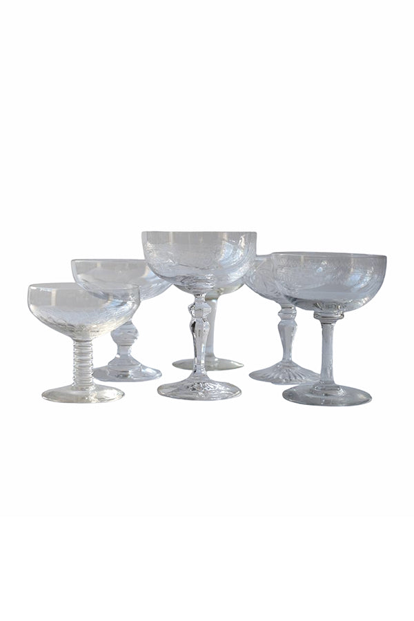 Mix & Match Champagne Coupes, Set of 6