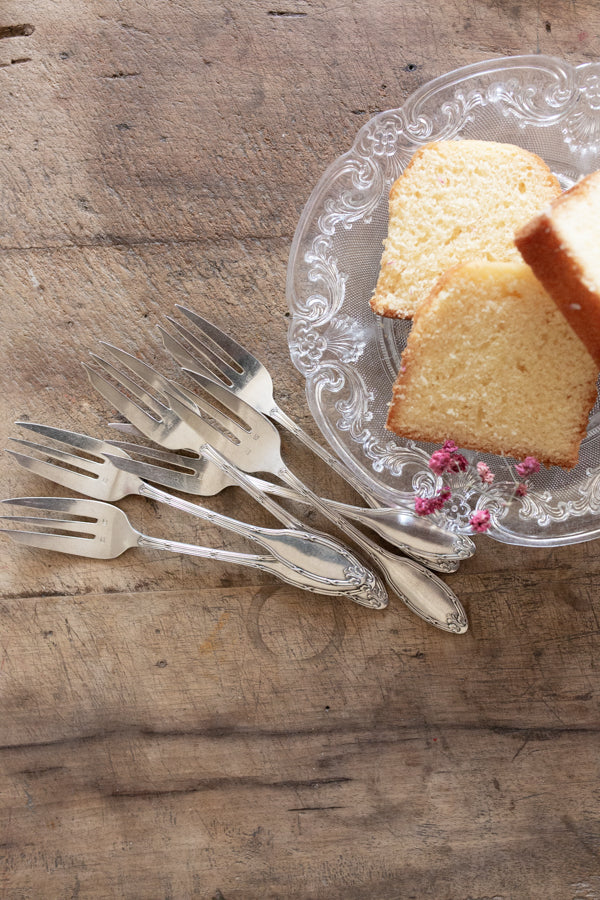 Silver Dessert Forks, Set of 6
