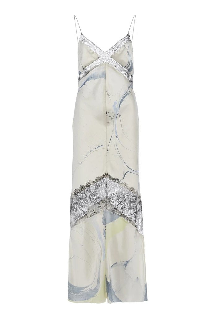 Slip Dress with Lace Inlay