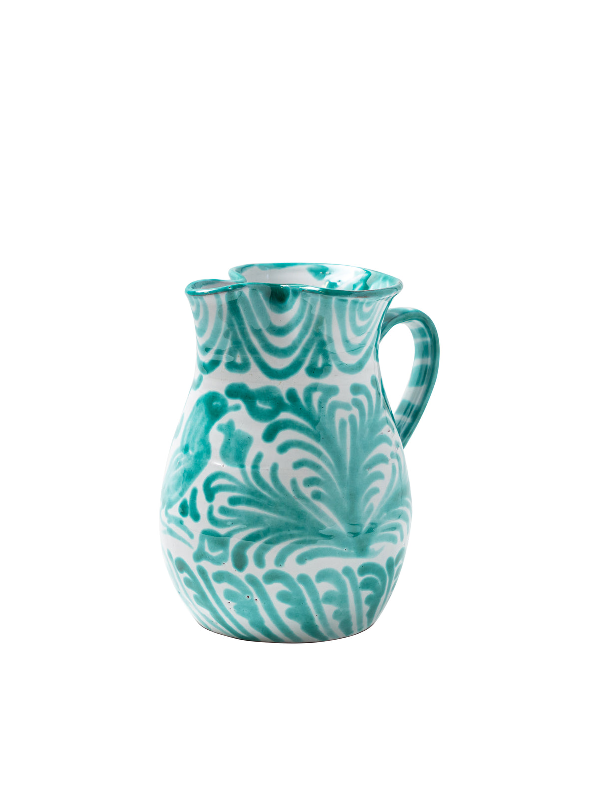 Casa Verde Small Pitcher with Hand-painted Designs