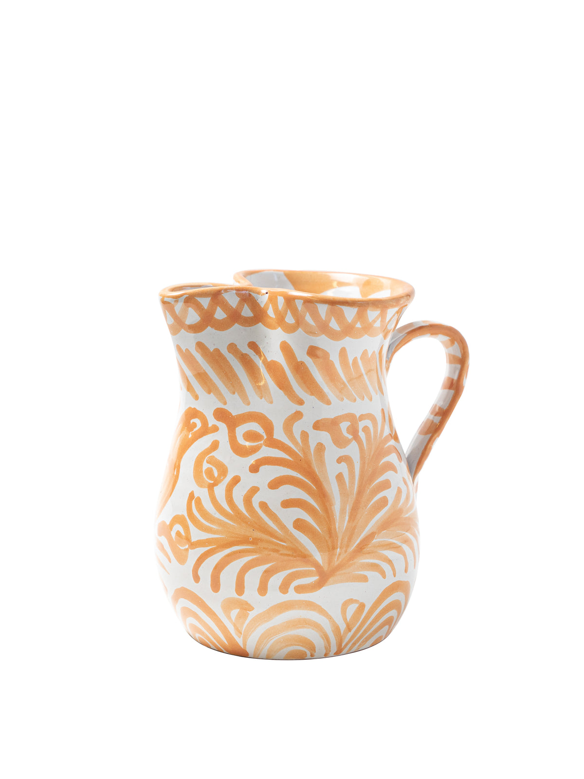 Casa Melocoton Small Pitcher with Hand-painted Designs